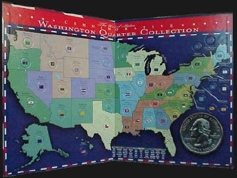 USA Commemorative Quarter Coin Maps